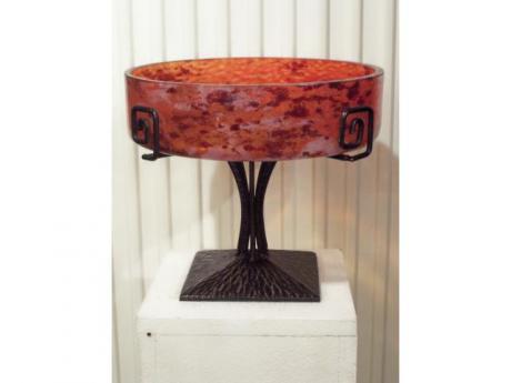coupe fruits en verre souffl sign e lorrain. Black Bedroom Furniture Sets. Home Design Ideas