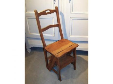escabeau chaise de biblioth que table de lit. Black Bedroom Furniture Sets. Home Design Ideas